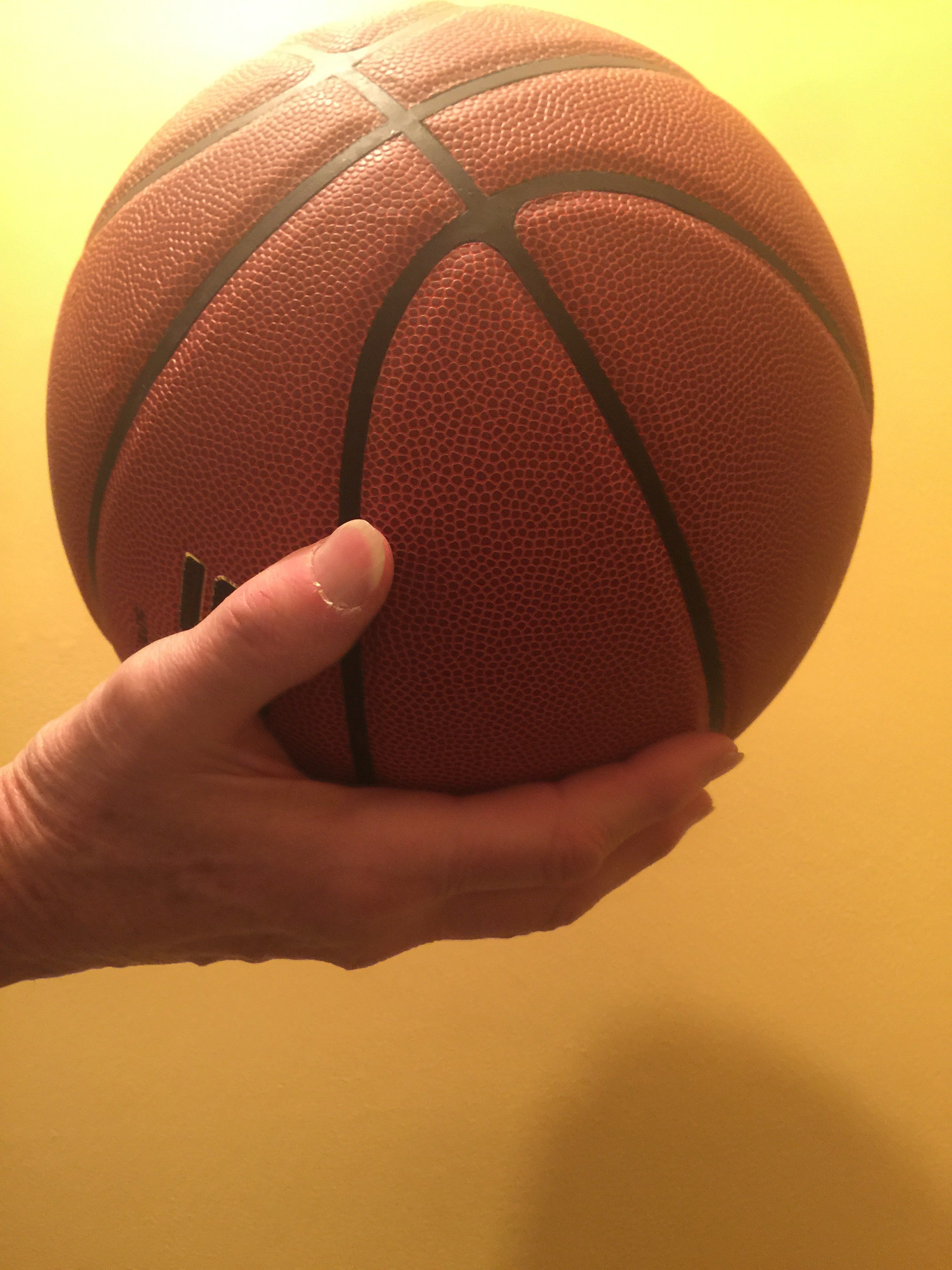"Correct Thumb - ""Bad Basketball Hands and My Flat Thumb Theory"" by Jim Burson https://jimburson.com"