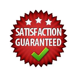 Satisfaction Guaranteed - Burst Badge Red