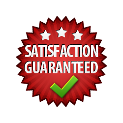 Satisfaction Guaranteed - Burst Badge Red